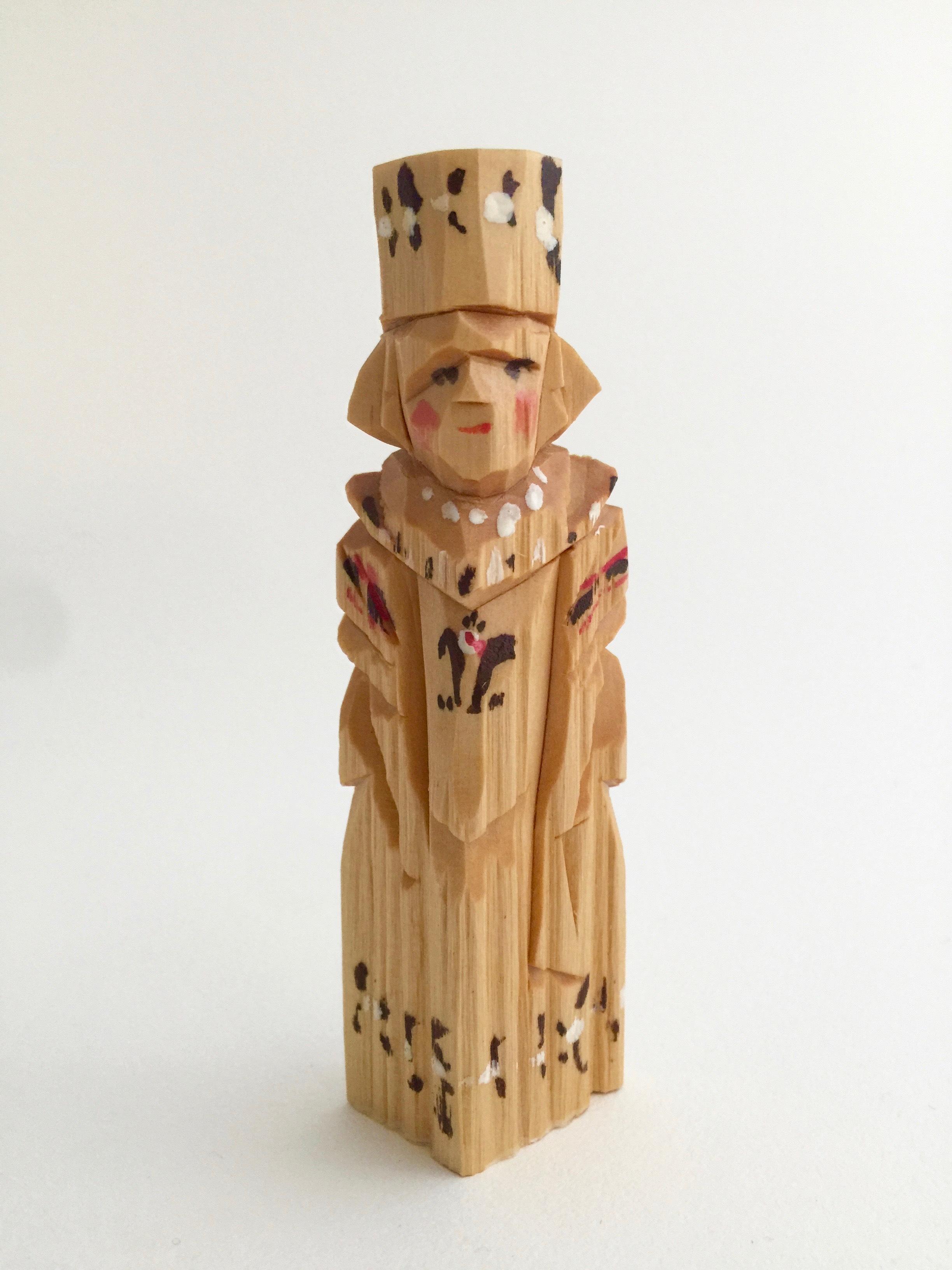 ロシア 木彫り人形(男性)