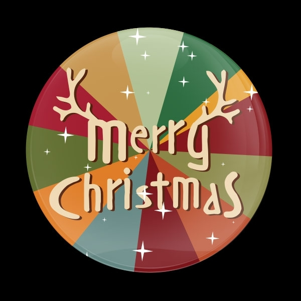 ゴーバッジ(ドーム)(CD0887 - Seasonal Merry Christmas) - 画像1