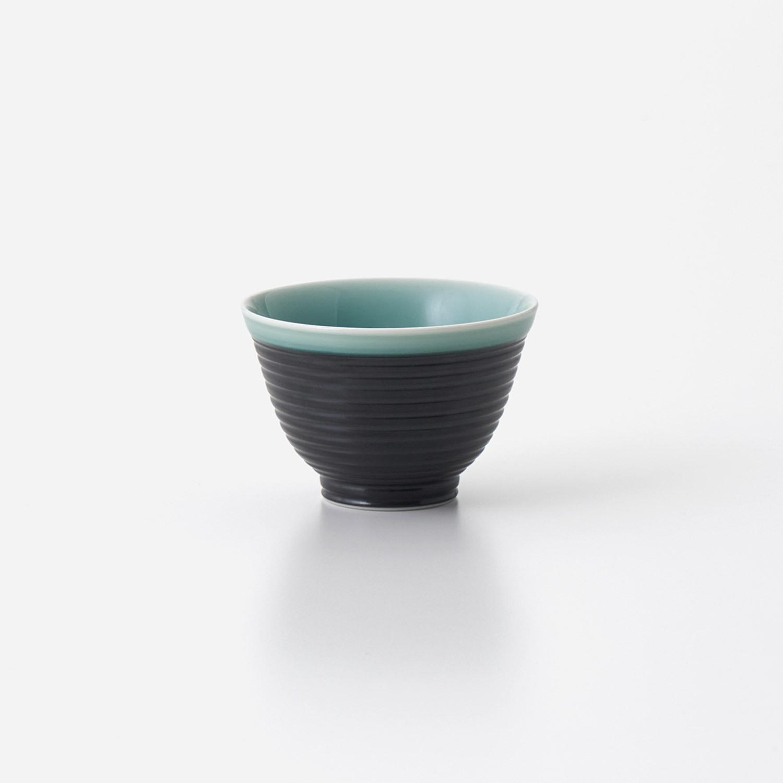 青磁黒彩 煎茶碗 (小)