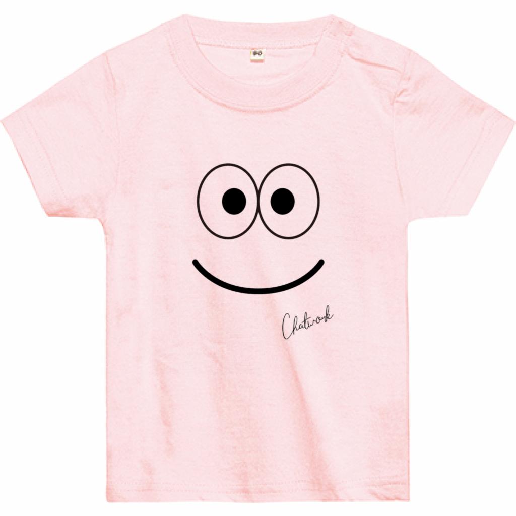 Emoji Smile Tシャツ(ベビー)ライトピンク