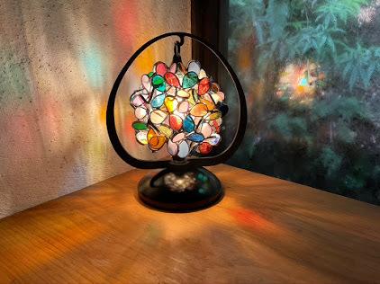 和灯 花びら(ステンドグラスのテーブルランプ)  01020105