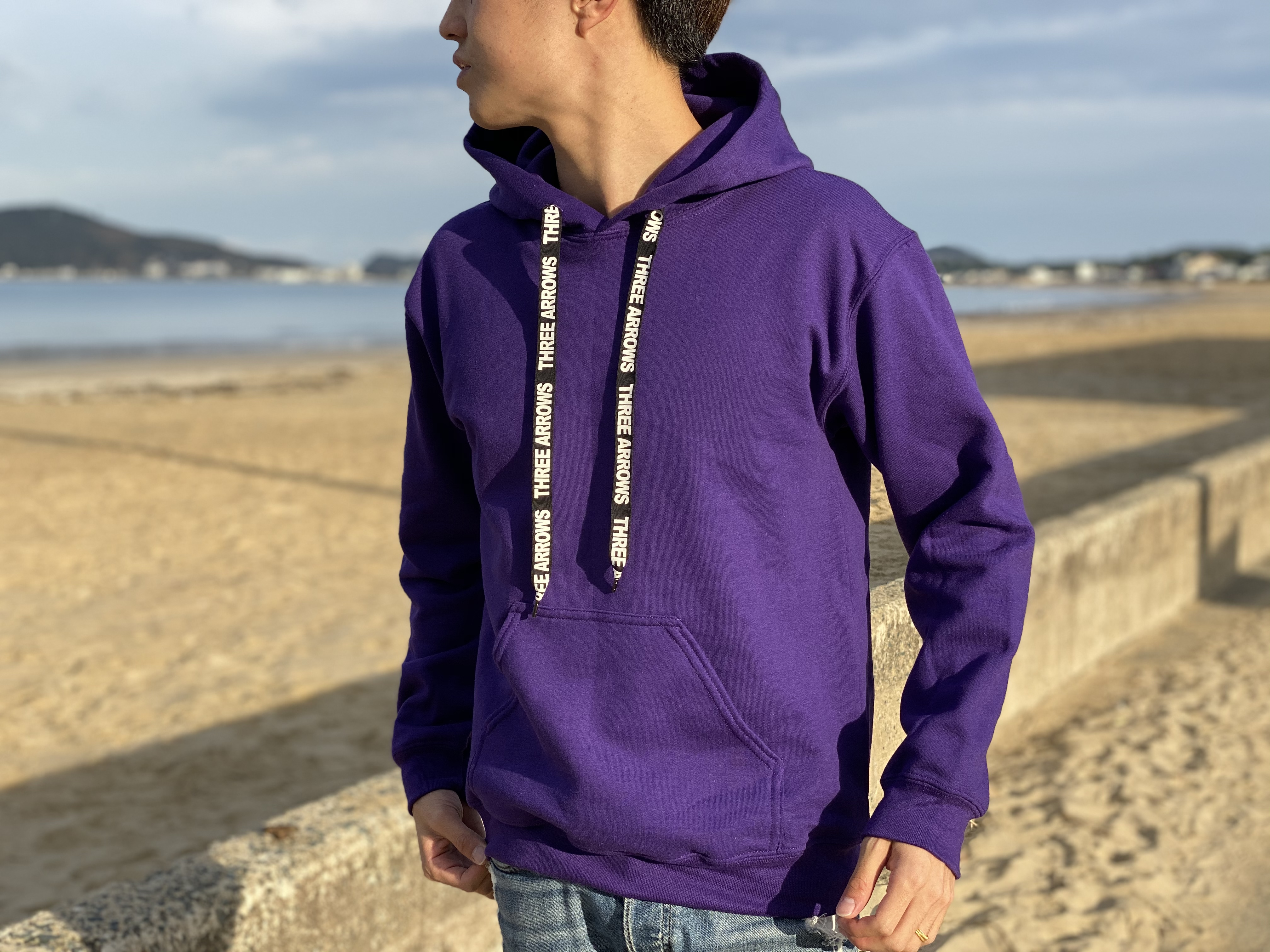 【11/20 21:00 発売開始】ThreeArrows Rubber Logo Foodie(purple)