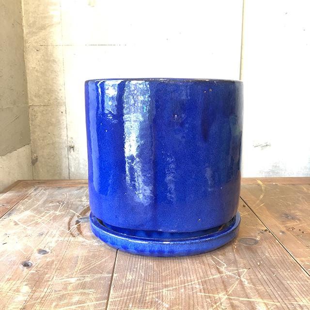 【数量限定人気のセラミックポット・鉢】VITROビトロ エンデガ 10号(受け皿付き)ブルー