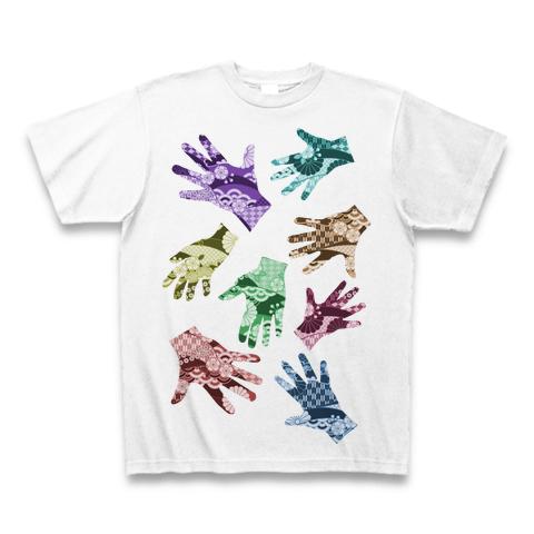 【Tシャツ】T-SHIRTS THE HANDS / WHITE こだわり オリジナル カラー 手 デザイン 白《S M L XL》