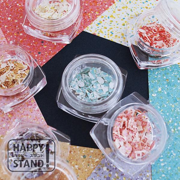 《マーブルストーン》ペーパーホログラム レジン封入 ネイルフレーク  ガラスドーム