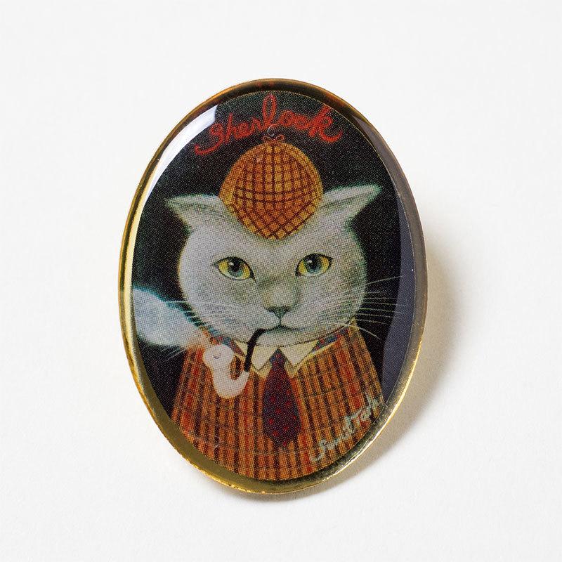 猫シャーロック・ホームズのピンズ(多田すみえの猫の世界 2016SPRING COLLECTION)