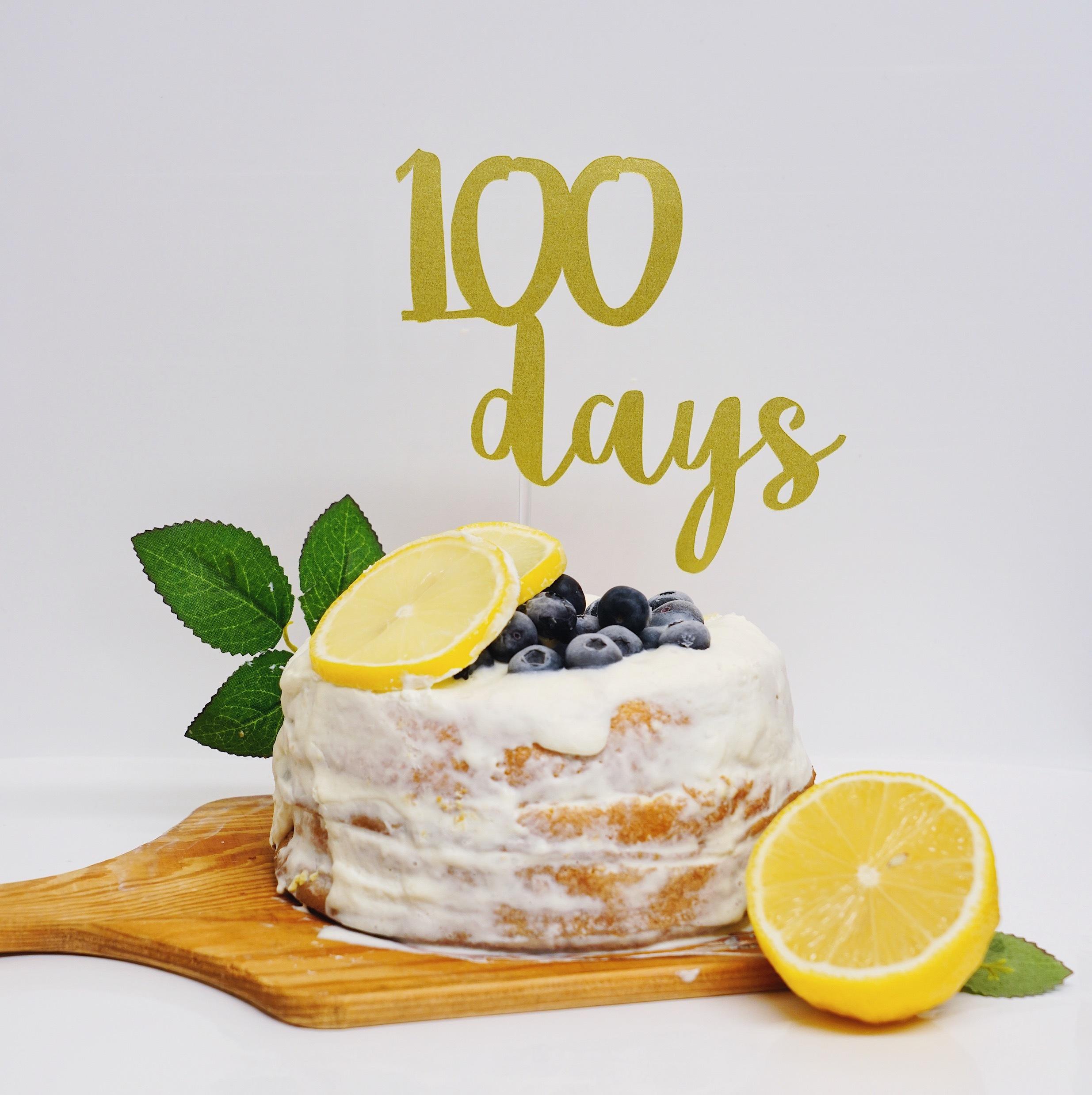 100daysケーキトッパー  誕生日 飾り付け
