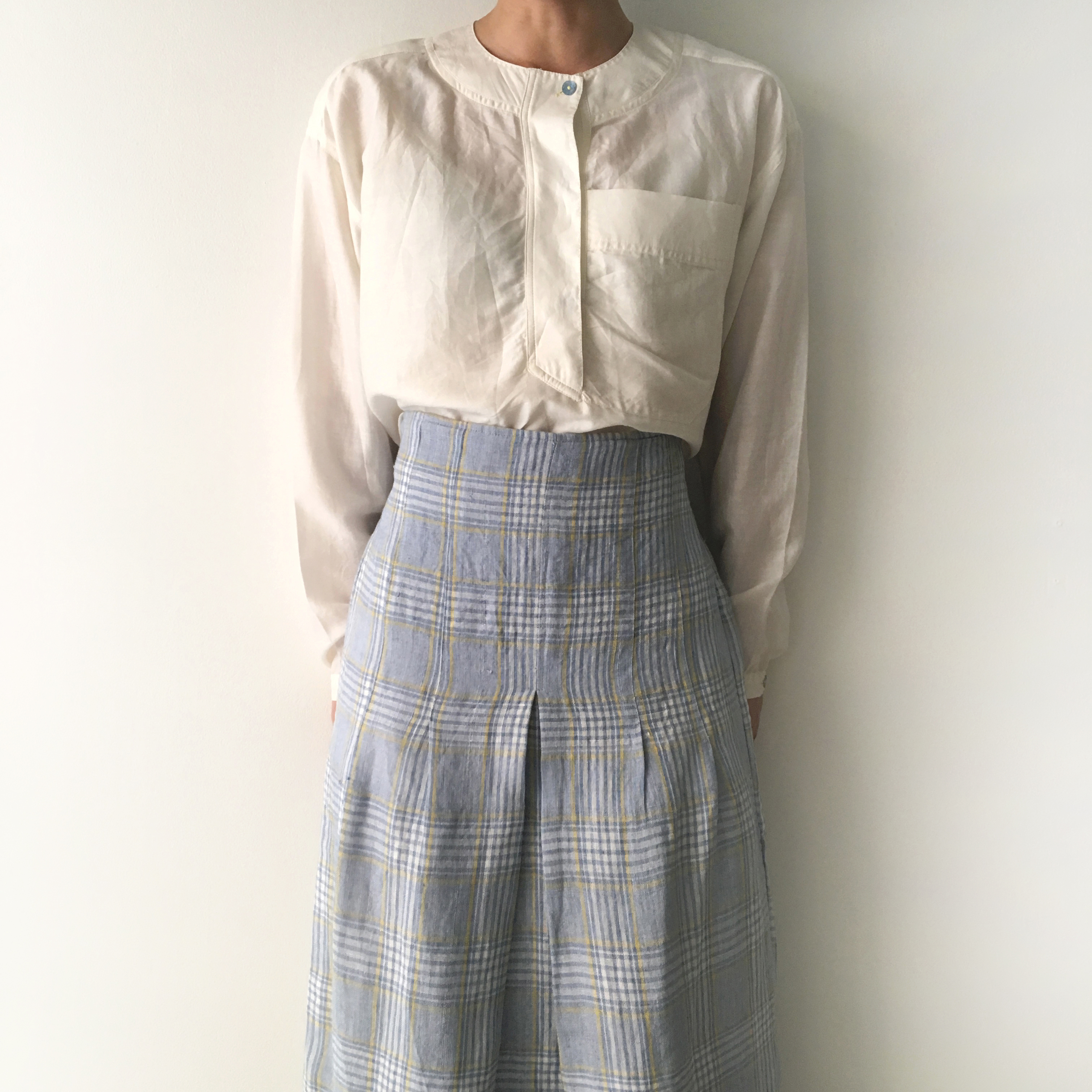 Tight Skirt blue check