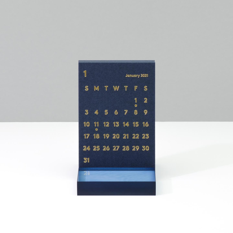 'CLARA' Desk Calendar 2021 Navy