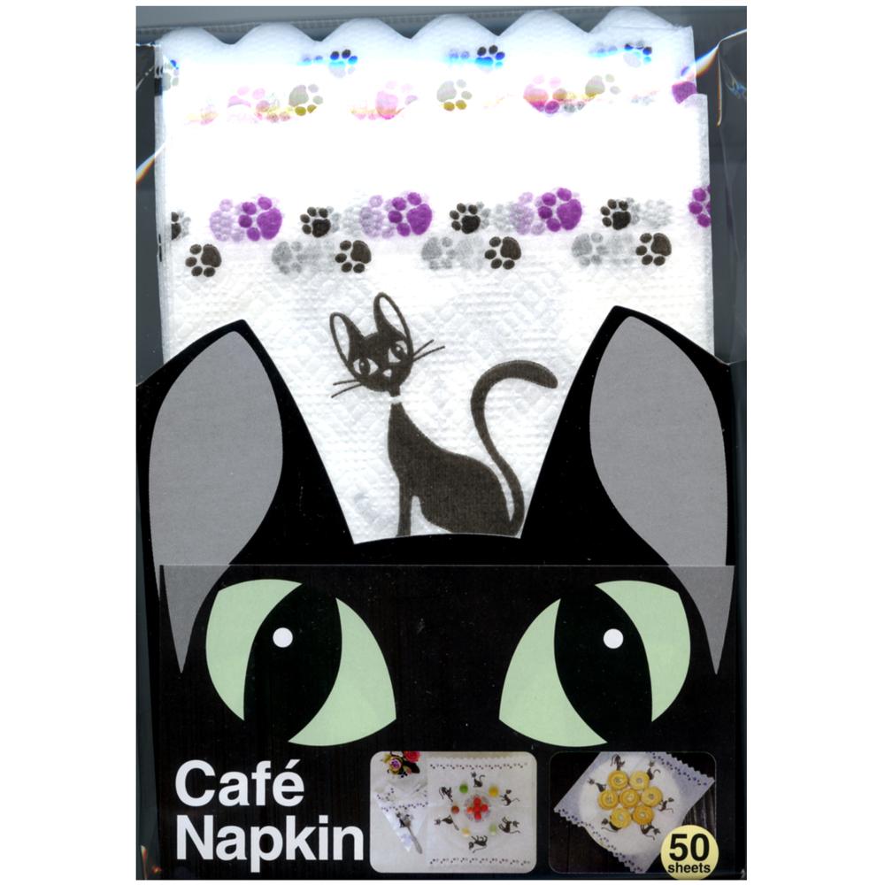 猫ペーパーナプキン(黒猫パーティー)