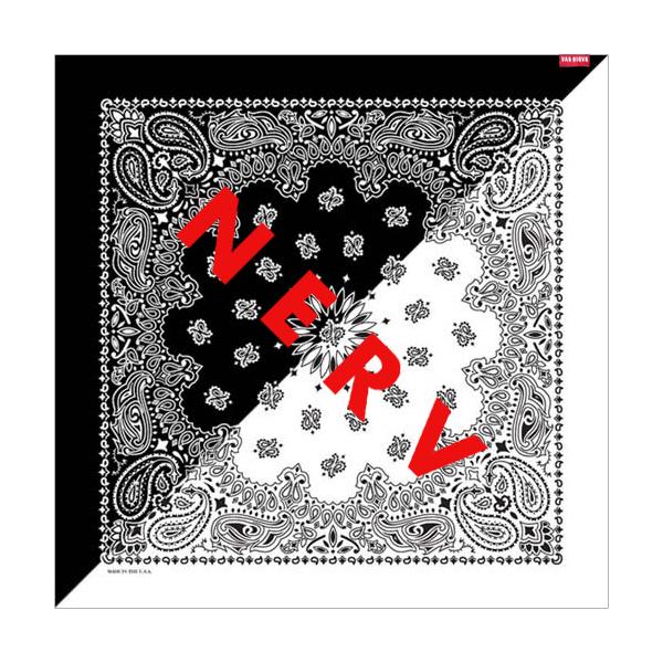 NERV SPLIT PAISLEYS BANDANA (ブラック×ホワイト) / RADIO EVA