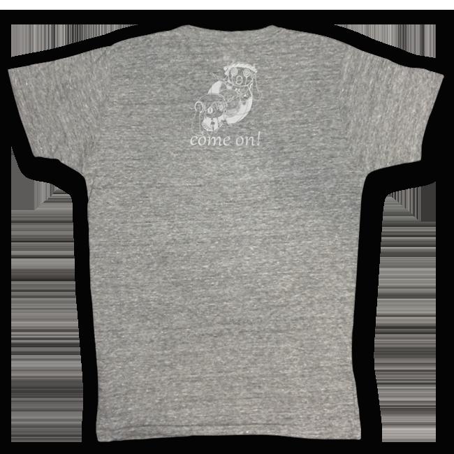 「ピノキオピー2015年祭りだヘイカモン」Tシャツ(メンズ/ヴィンテージヘザー) - 画像2