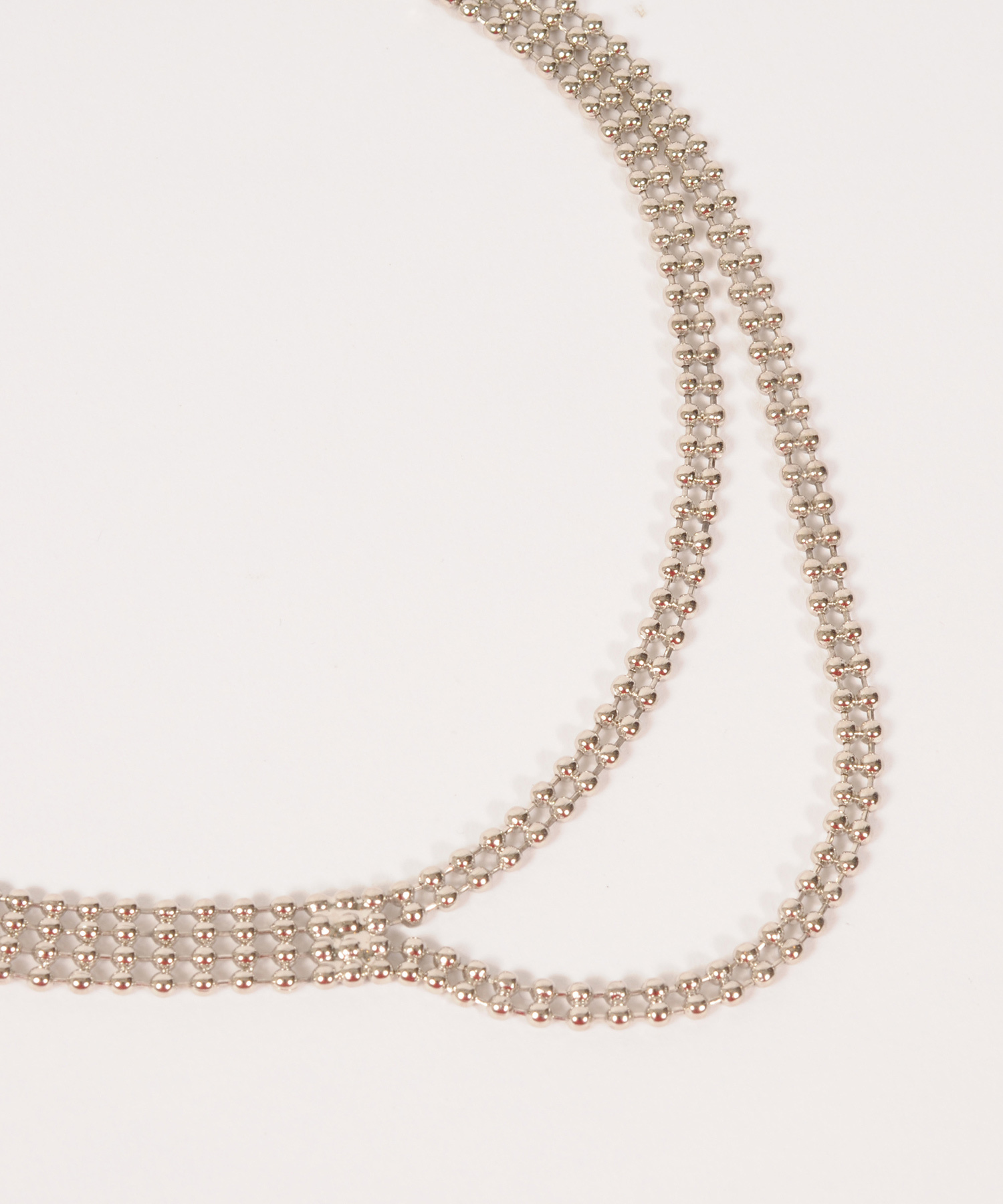 df19AW-J19 BALLCHAIN NECKLACE (silver)