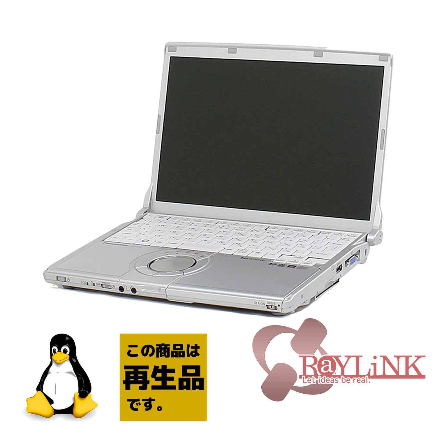 【再生品】Panasonic / Let's note S / Linux / Ubuntu / HDD250GB / 4GB / Core i5