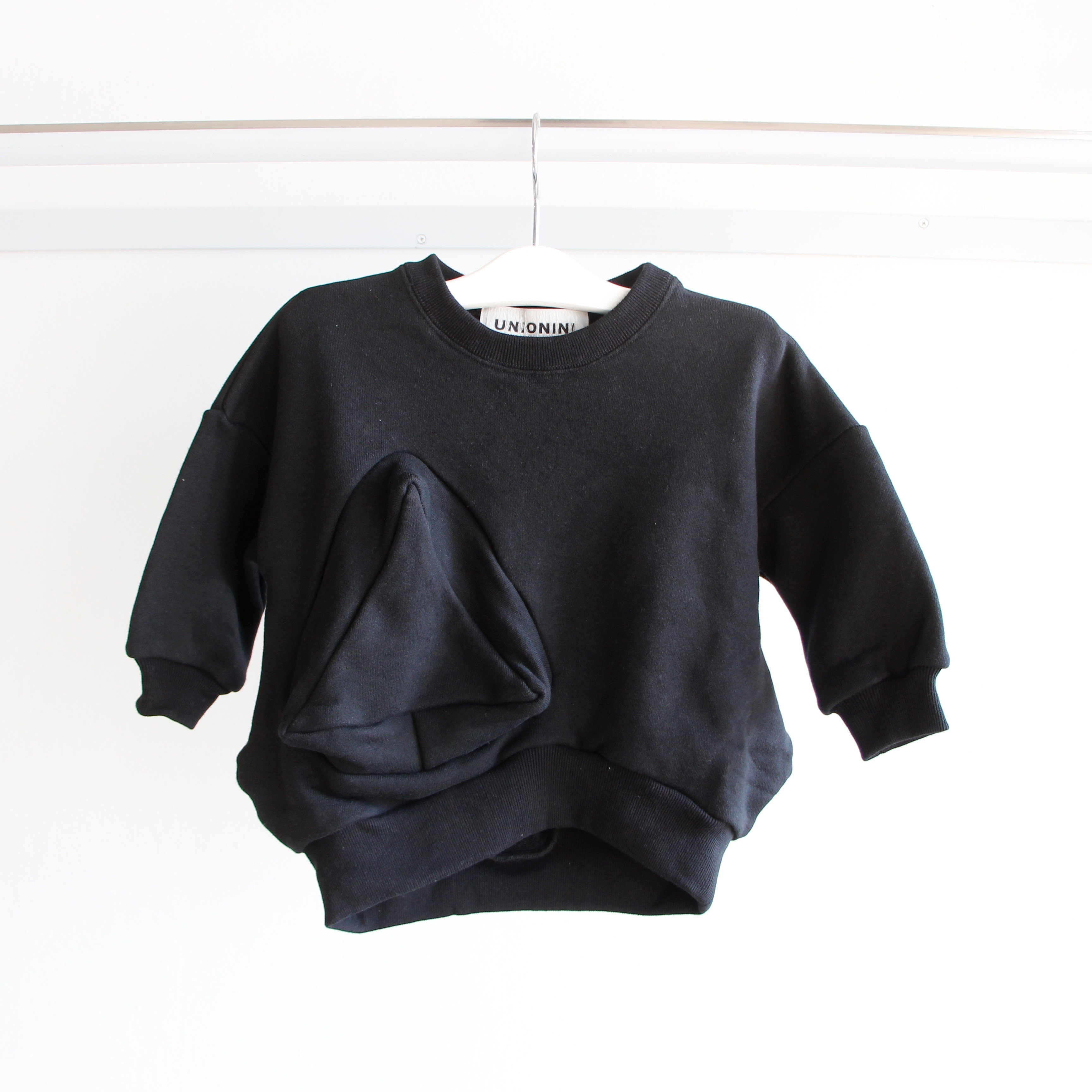 《UNIONINI 2019AW》◯△ sweat shirt / black / 1-10Y