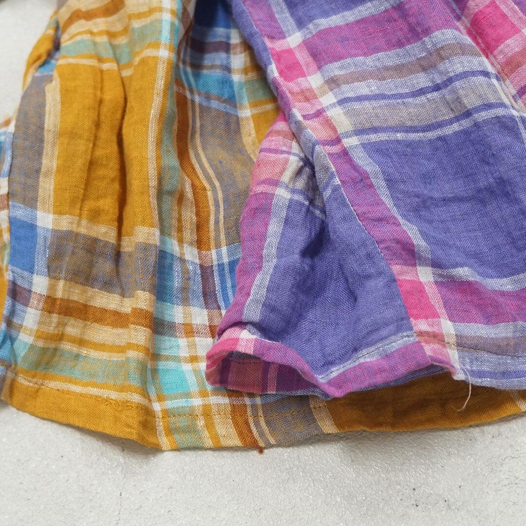 【再入荷なし】 ICHIAntiquites イチアンティークス LINEN VOILE MADRAS CHECK SHIRT リネンボイルマドラスチェックシャツ (品番600108)