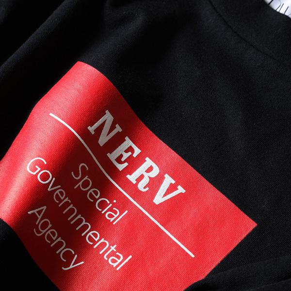 【FLOWER by RADIO EVA 019】NERV Box and Lettering Long T-Shirt  BLACK / EVANGELION エヴァンゲリオン