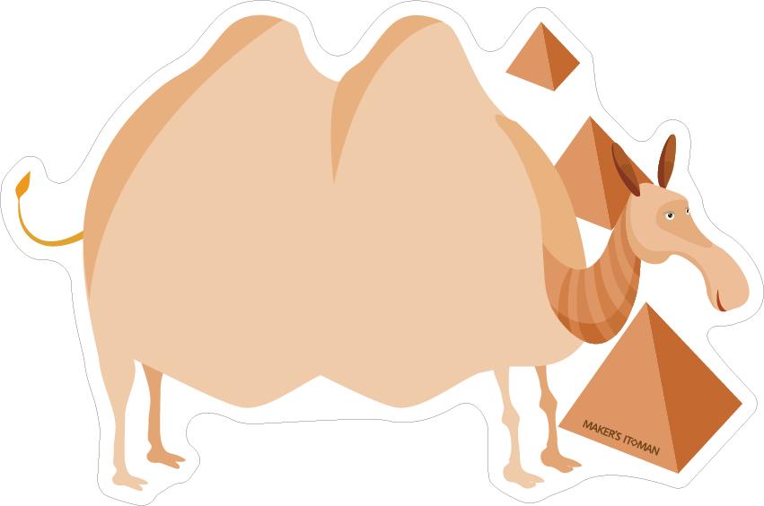 冷蔵庫マグネットホワイトボード(ラクダ)