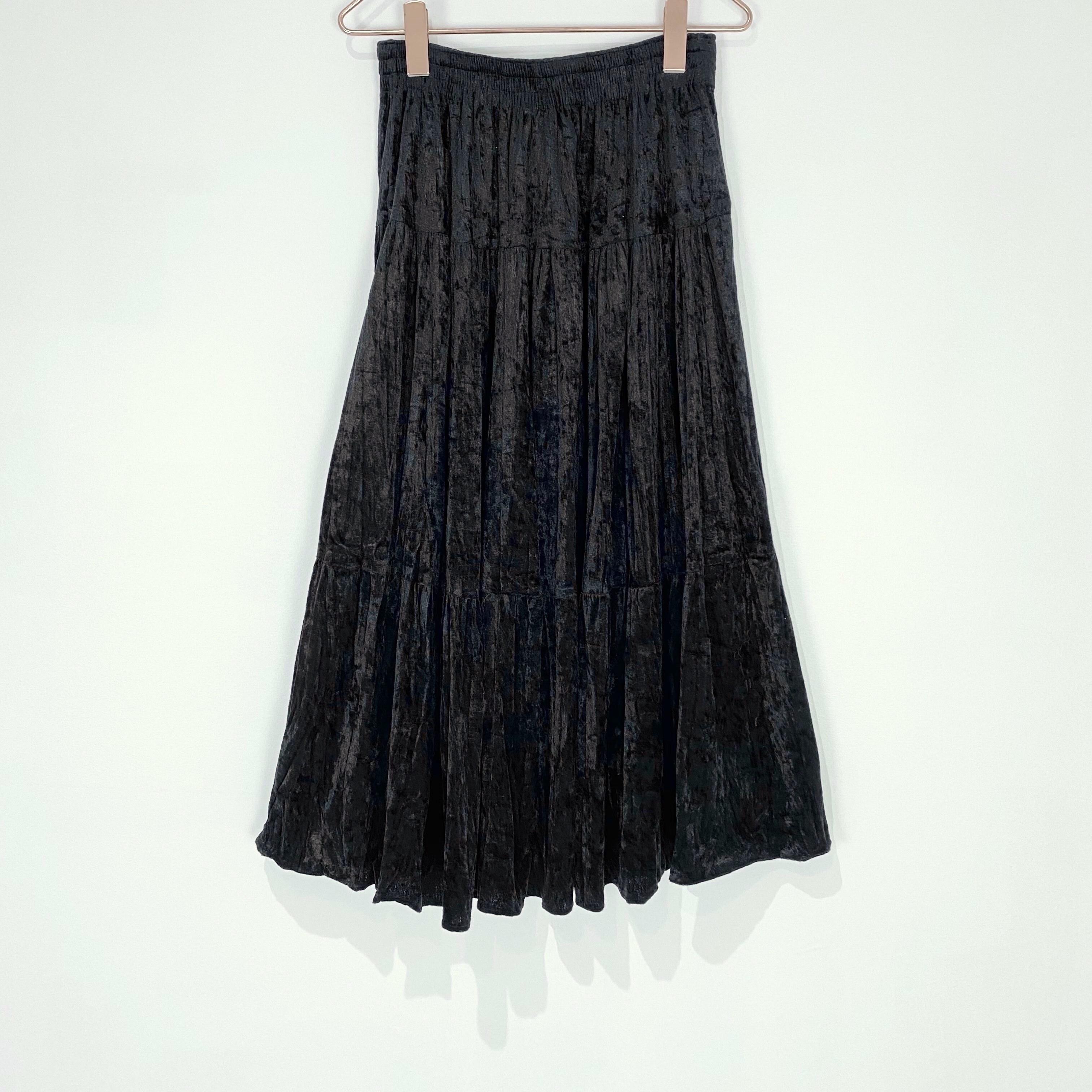 ◼︎80s vintage clash velvet flare skirt from U.S.A.◼︎
