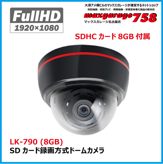 SDカード録画方式ドームカメラ  LK-790 (8GB)