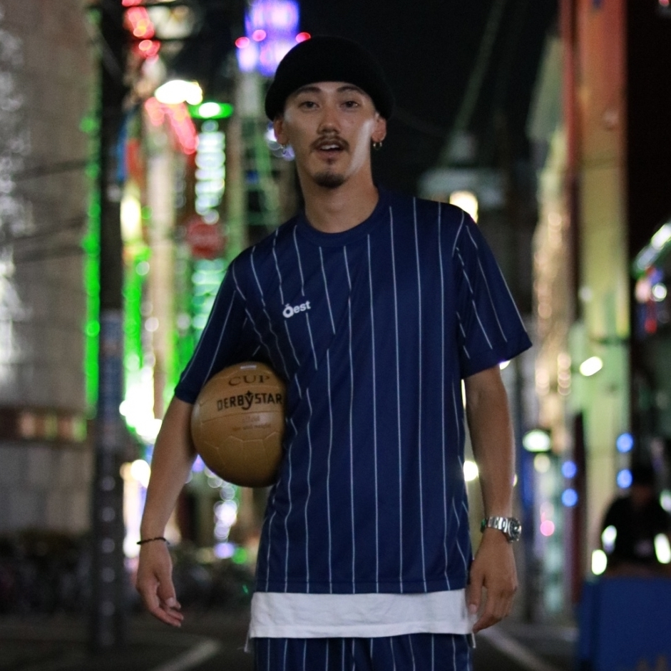 Simple Stripe Practice Shirt / Navy - 画像2