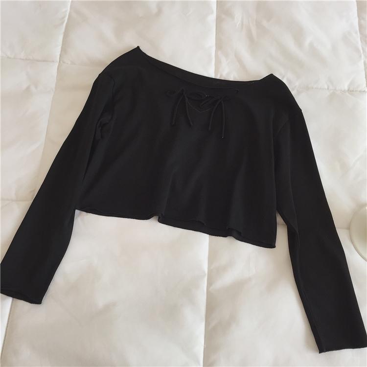 ハートリボンロングTシャツ【Heart ribbon long T-shirt】