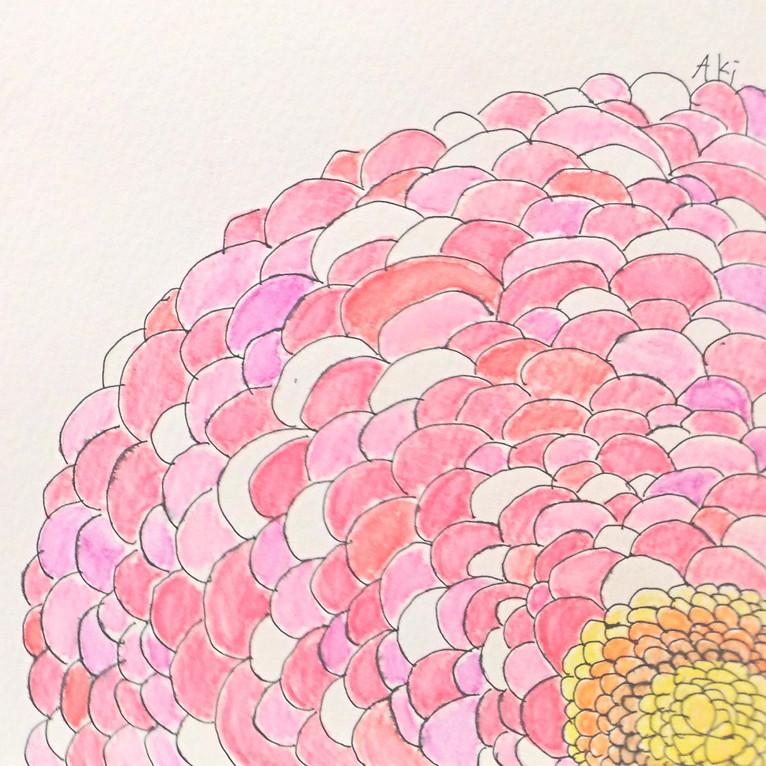 絵画 絵 ピクチャー 縁起画 モダン シェアハウス アートパネル アート art 14cm×14cm 一人暮らし 送料無料 インテリア 雑貨 壁掛け 置物 おしゃれ ロココロ 抽象画 現代アート 画家 : ごま 作品 : おはな2
