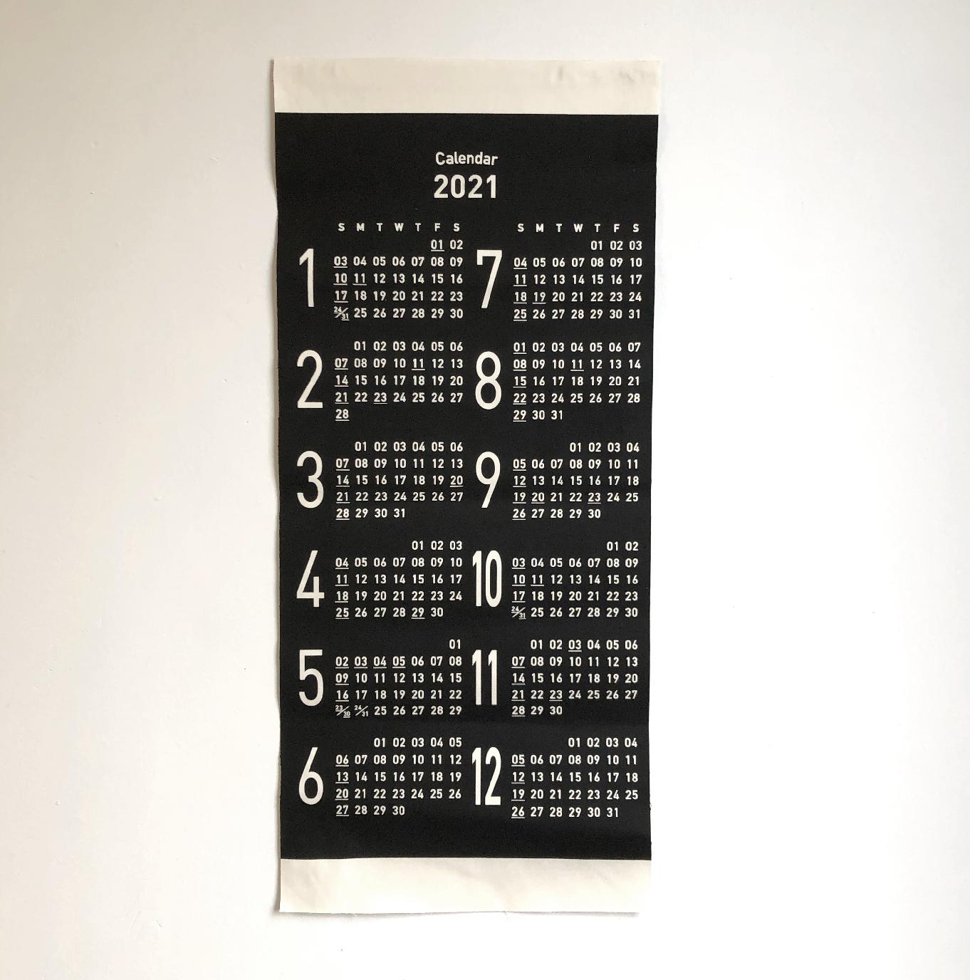 端切れカレンダー スタンダードタイプ/持込なし