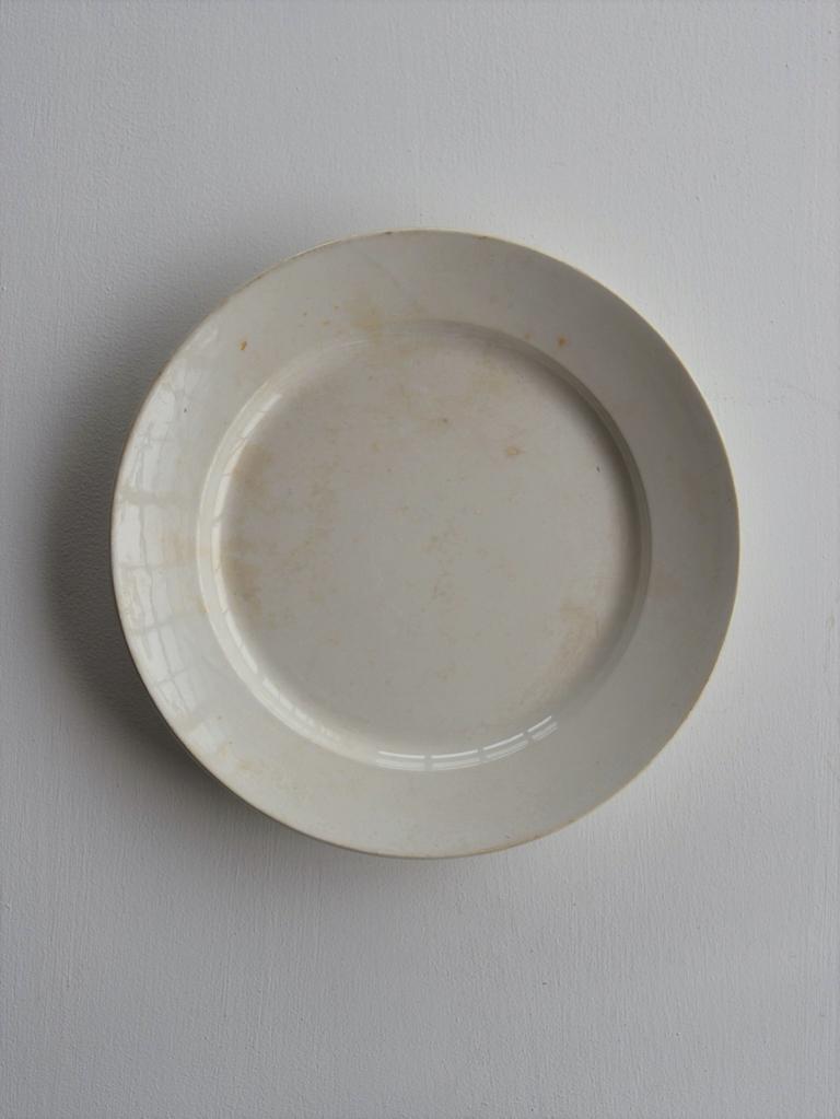 白皿 大 - white plate large size