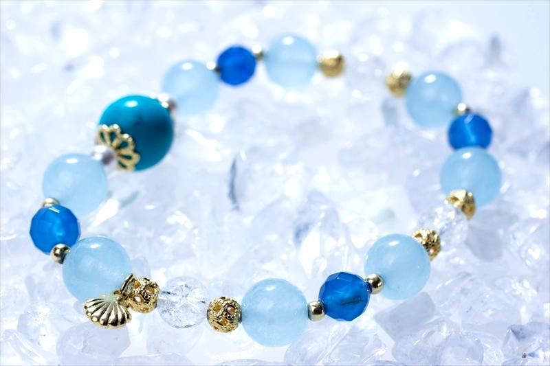 Blue sea【パワーストーンブレスレット 】 - 画像2