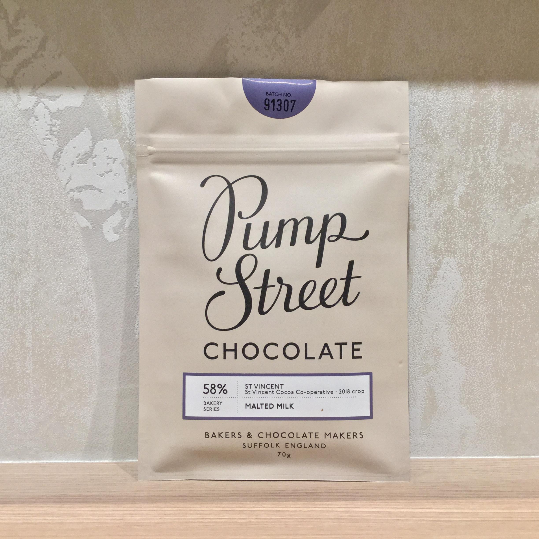 【Pump Street bakery CHOCOLATE/パンプストリートチョコレート】58%モルテッドミルク