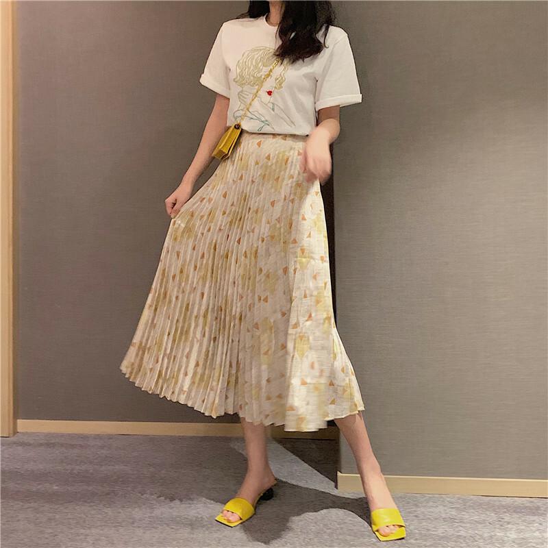【送料無料】サテン ギャザーロングスカート B19042201