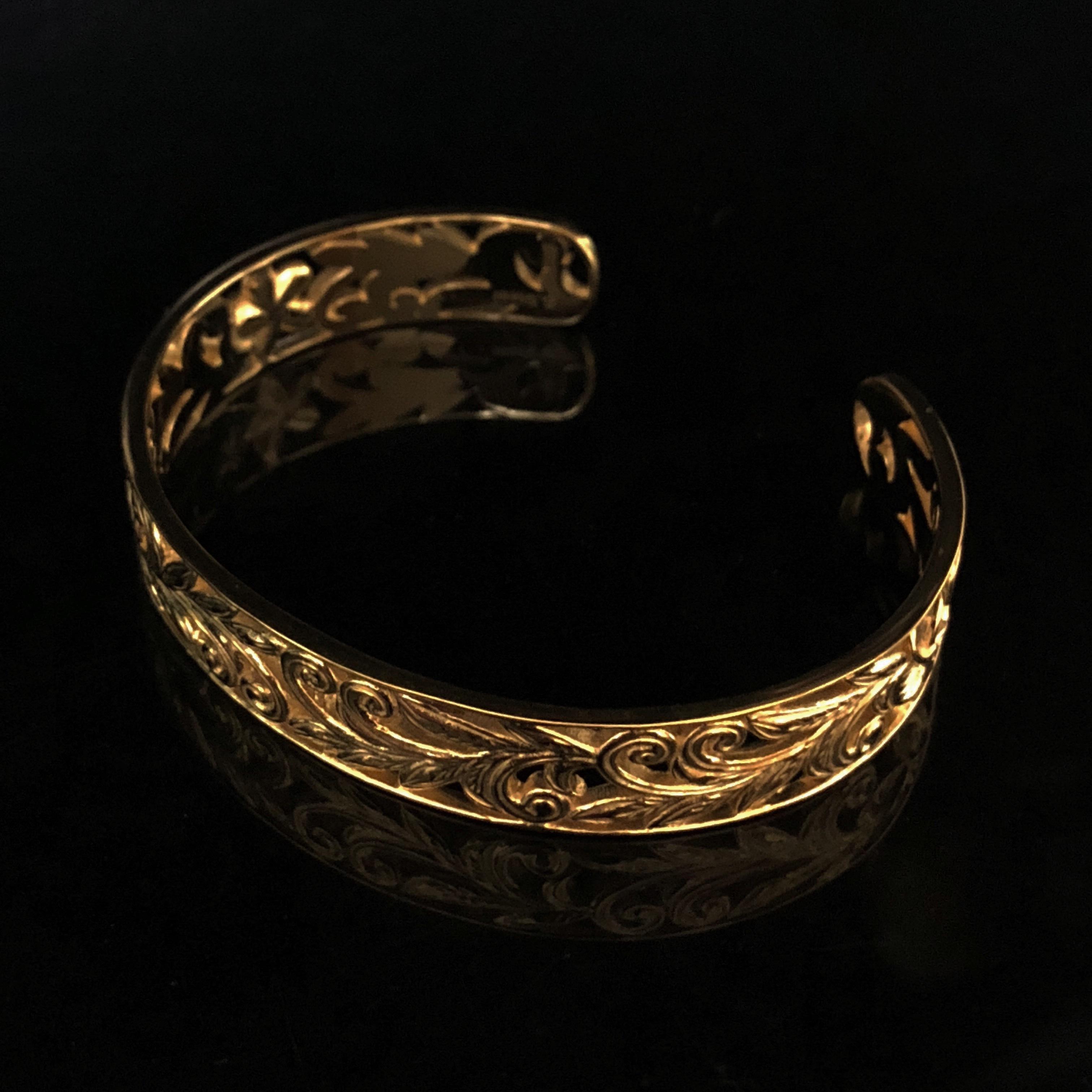 24kgp Hawaiian jewelry bangle(skeleton)