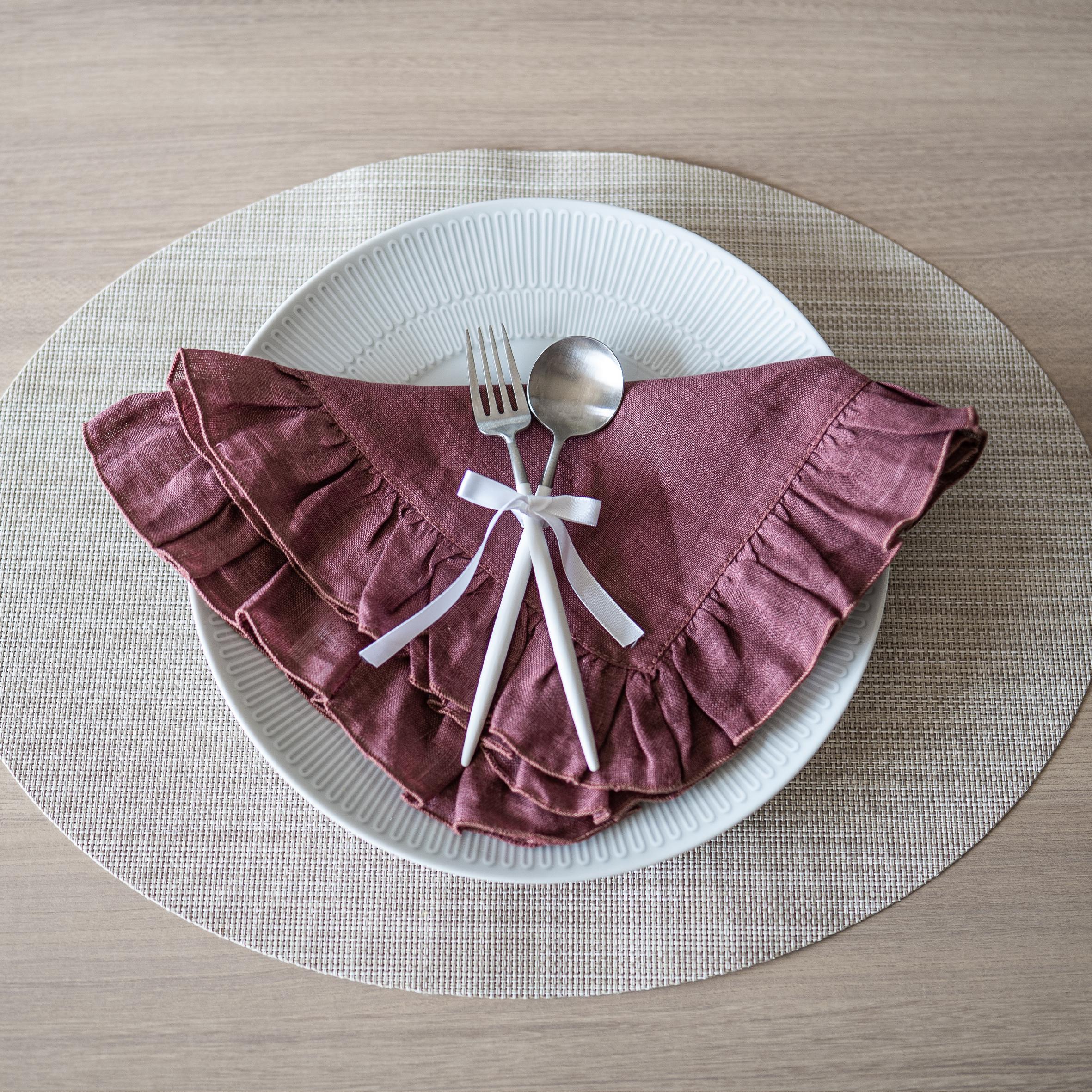 ボルゴ デル トヴァーリ リネンナプキン - Moscatelllo Red( BORGO DELLE TOVAGLIE Napkin )