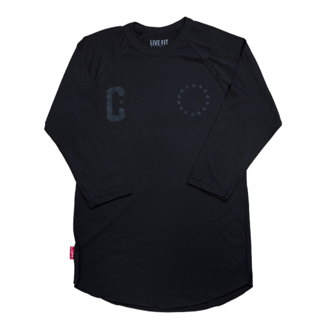 LIVE FIT Premium Raglan - Black