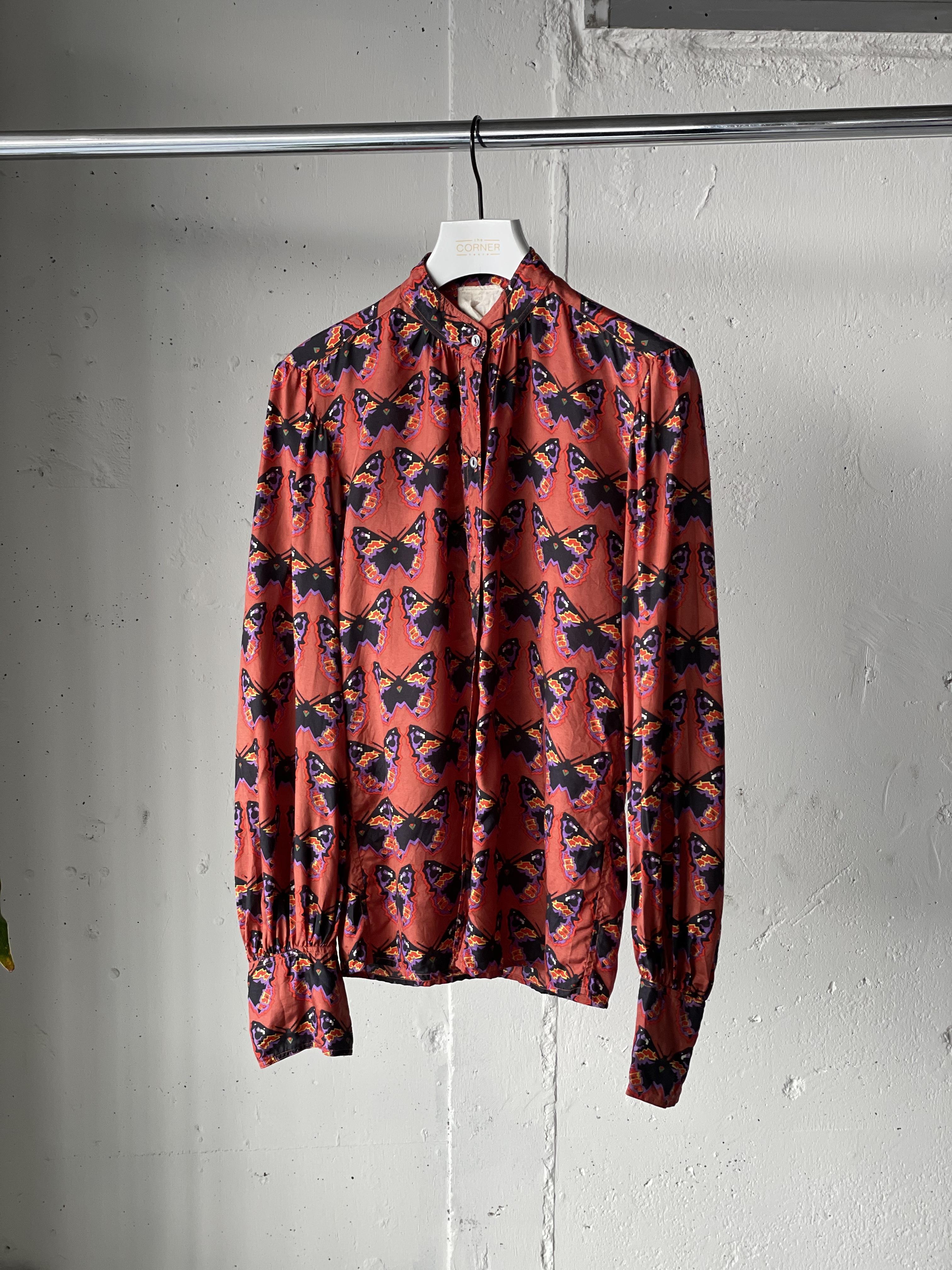 """""""SAINT LAURENT"""" vintage butterfly shirt"""