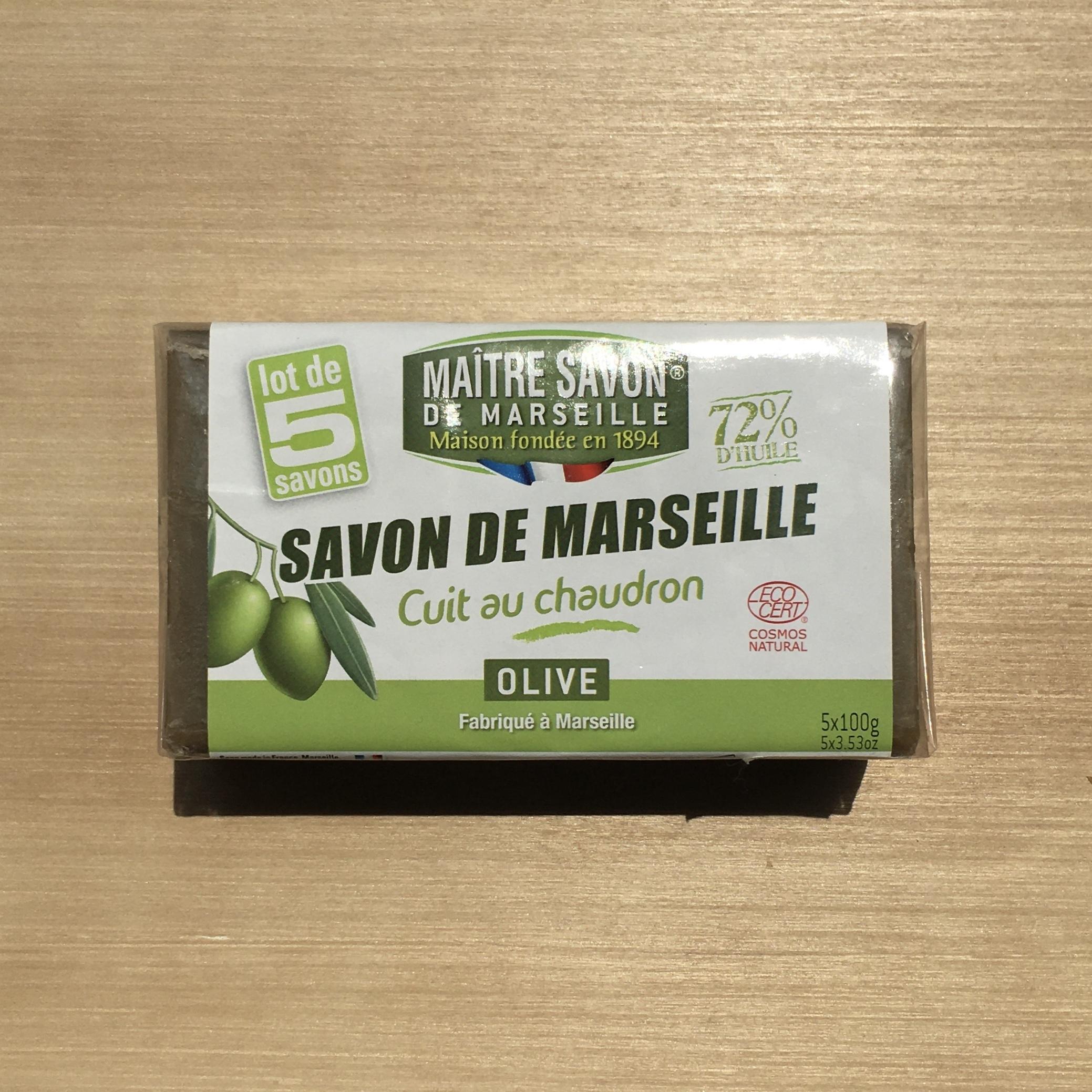 """"""" SAVON DE MARSEILLE OLIVE 100g×5 """""""