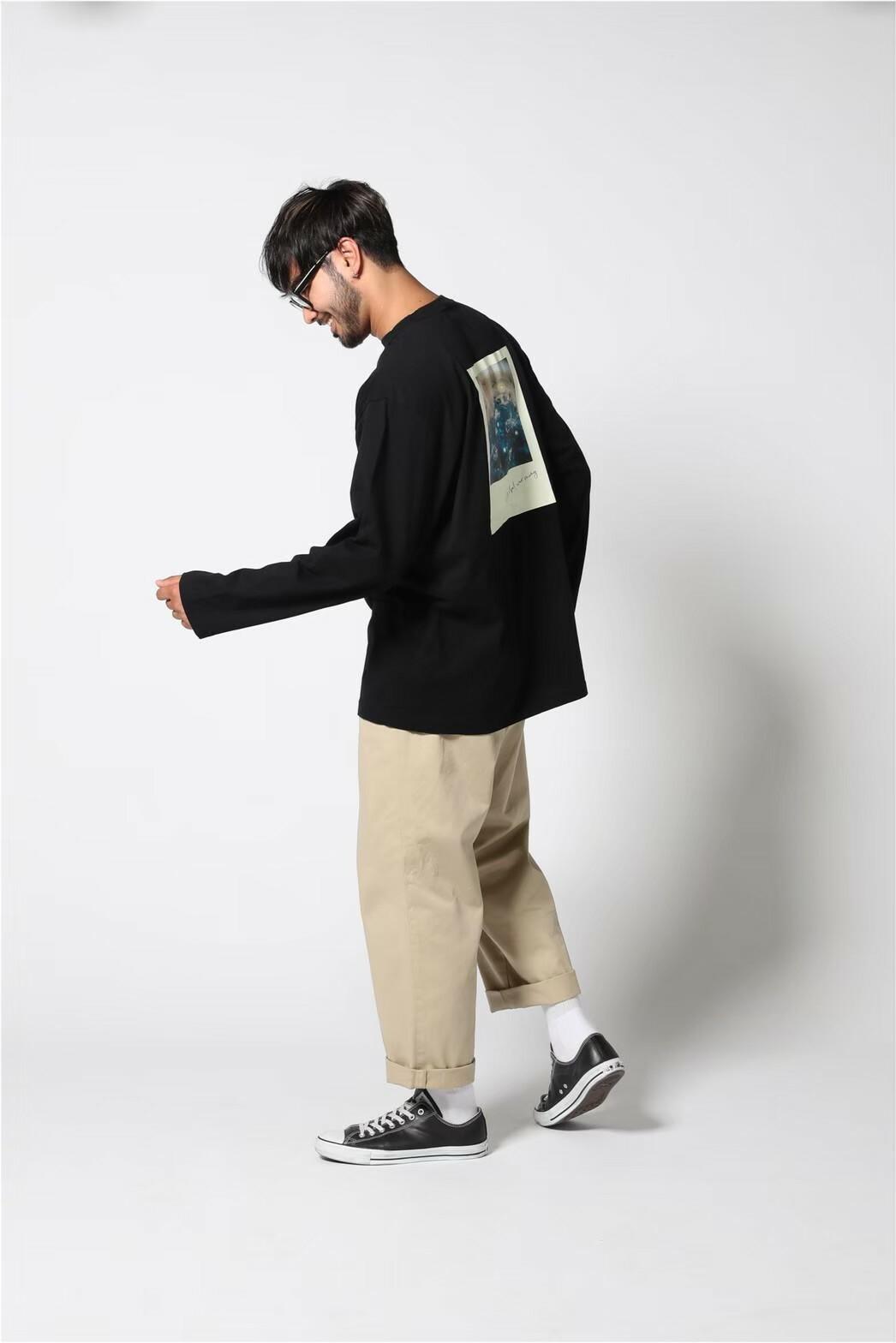 edit clothing  Graphic backprint L/S(グラフィックバックプリントL/S/ブラック)