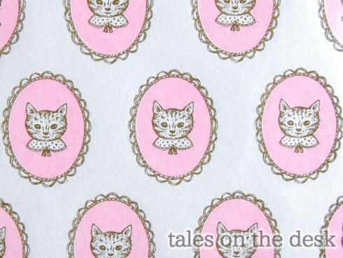 レターセット - 猫ピンク - tales on the desk
