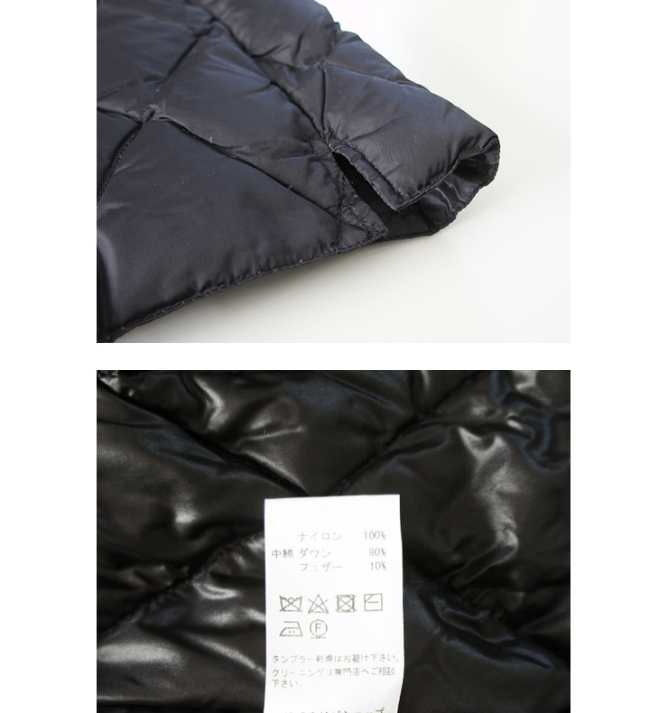 TheLoftlabo ロフトラボ LOPY-2 BLACK レディース ダウン ベスト 秋 冬 通販 【返品交換不可】 (品番tl17fjk14)