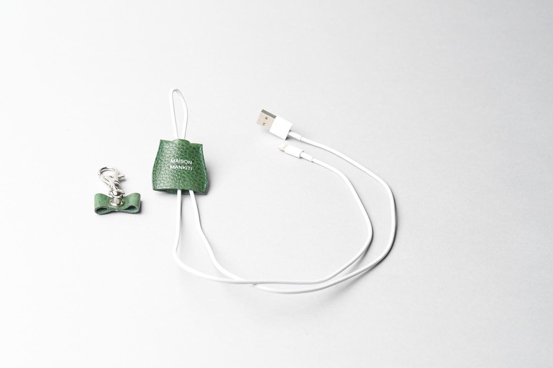 i phone ケーブルホルダー □ホワイト□ cable holder  - 画像2