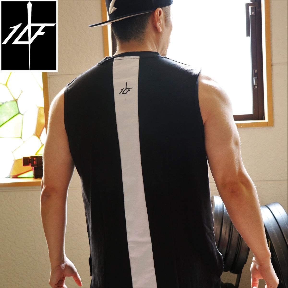 10FIT タンクトップ トレーニング 筋トレ ボディビル メンズ TT-19 黒白