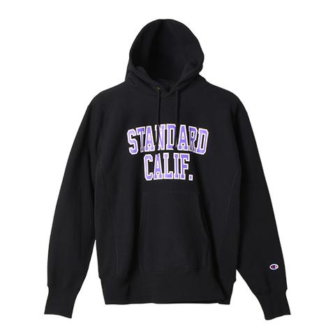 STANDARD CALIFORNIA #Champion × SD Reverse Weave Hood Sweat Black