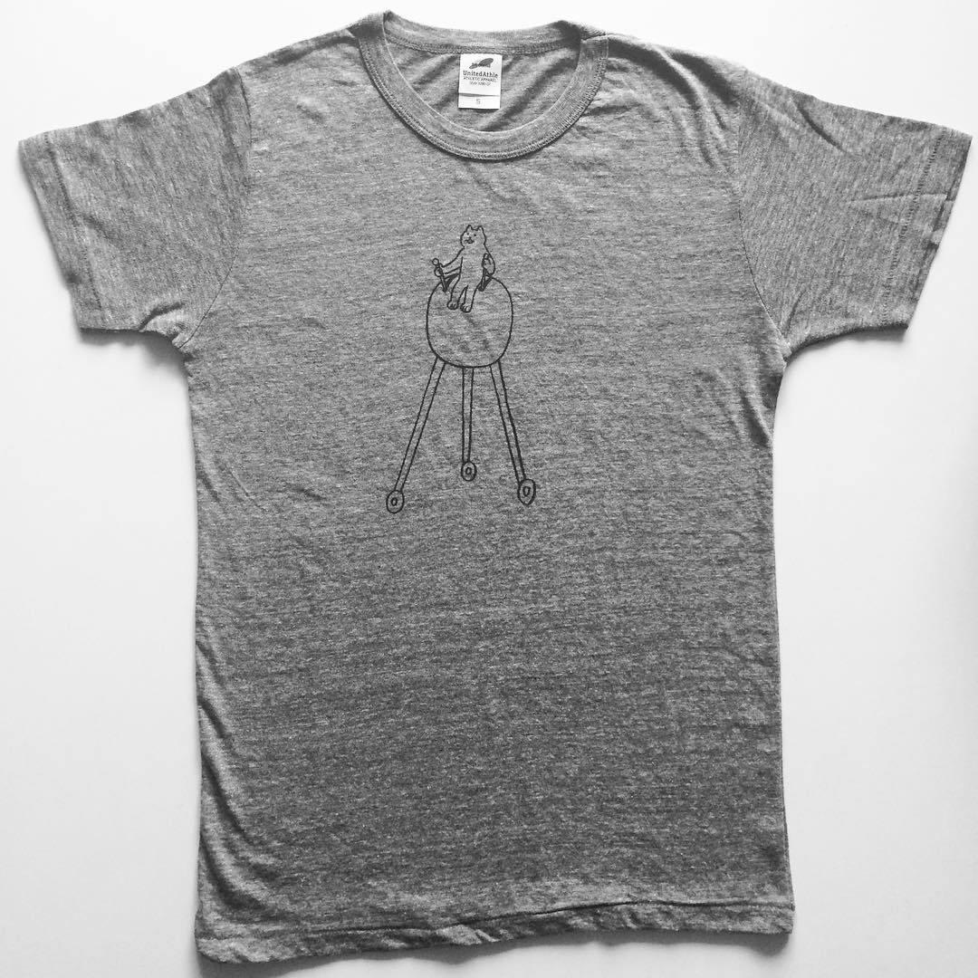 「makomo Tシャツ(丸クルマ) グレー Sサイズ」 - 画像1