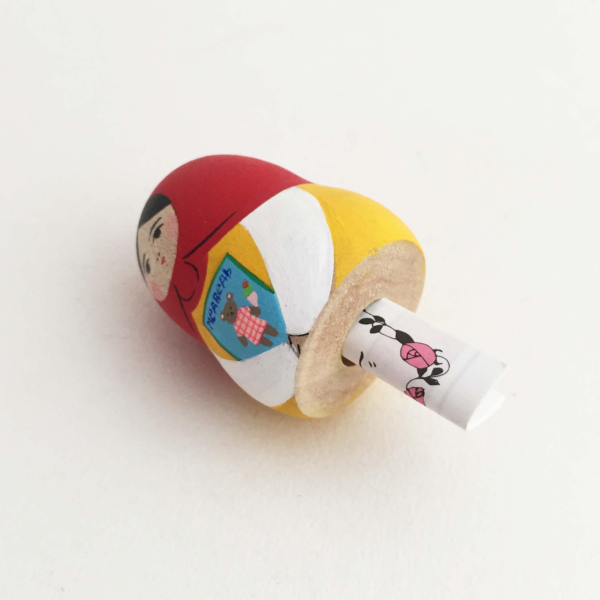 マトリョーナちゃん(花みくじ付き木地玩具)