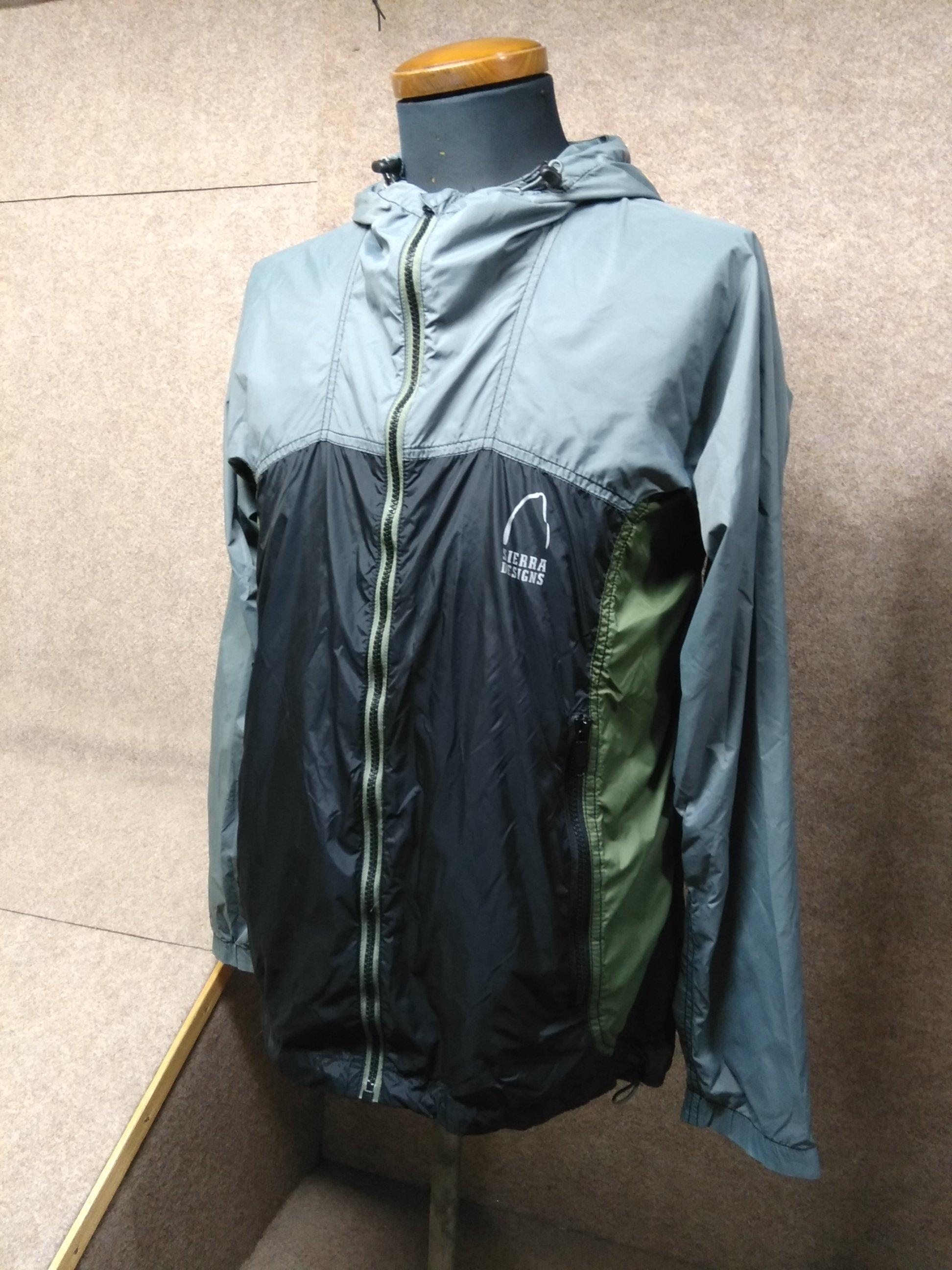 シェラデザイン メンズ ナイロンジャケット M グレー×黒系 y1263a