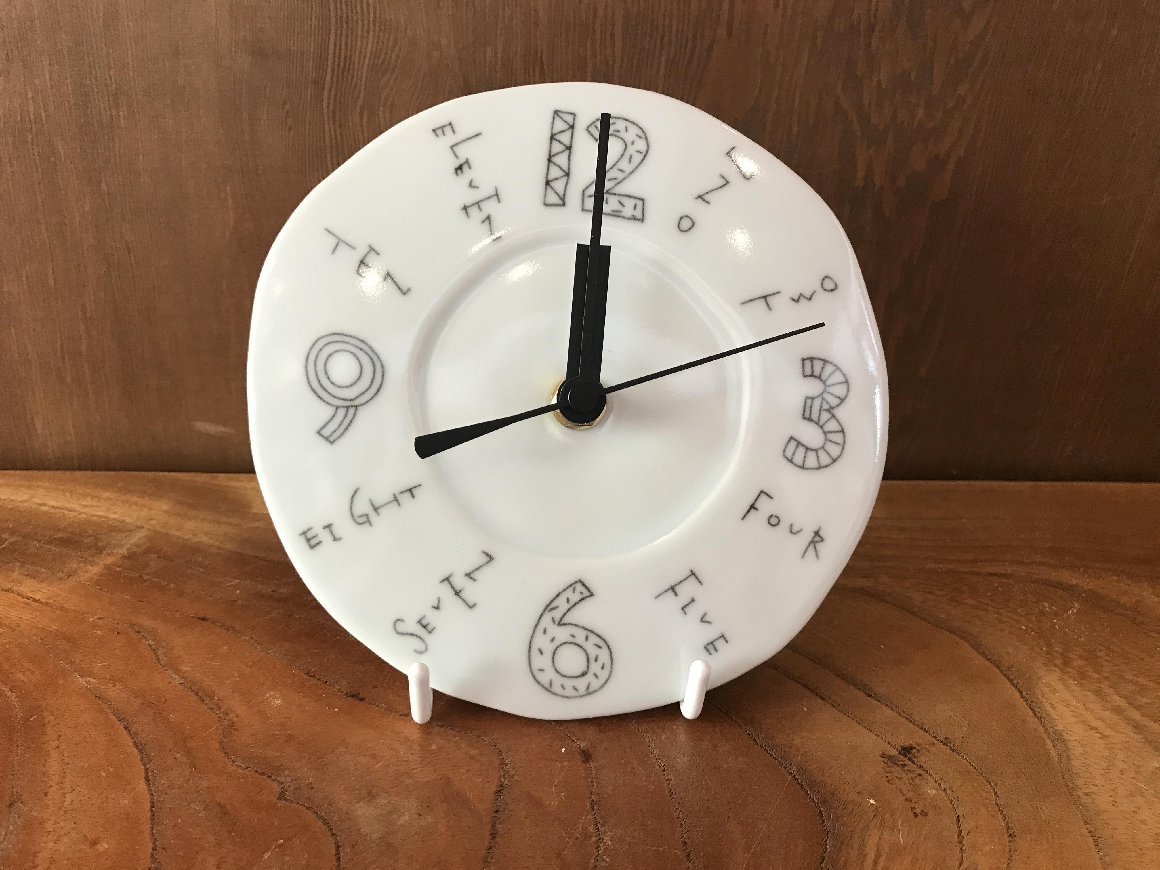 陶彩窯  壁掛け時計