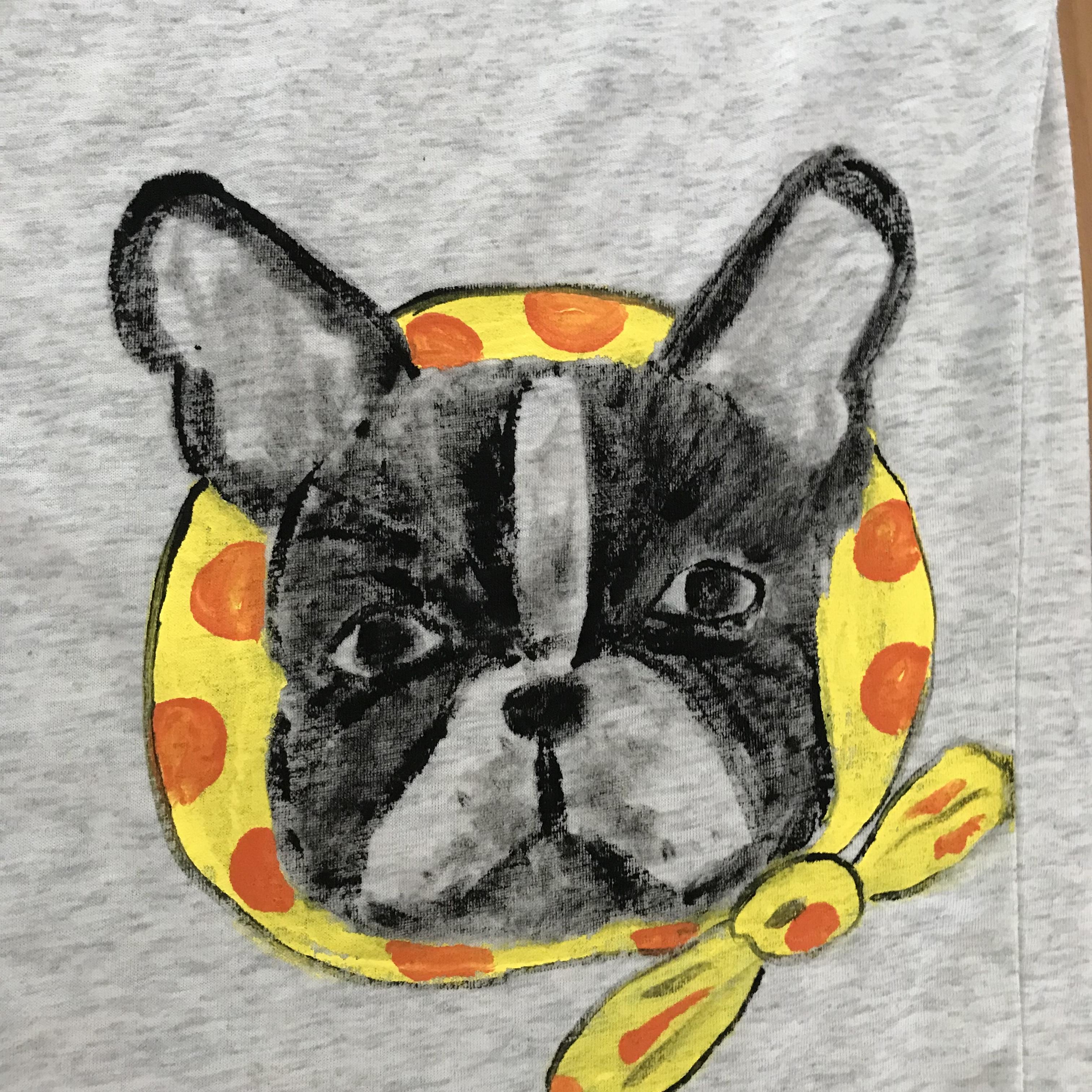BUHIお絵描きTシャツ(レディースM)ほっかむり・オートミル