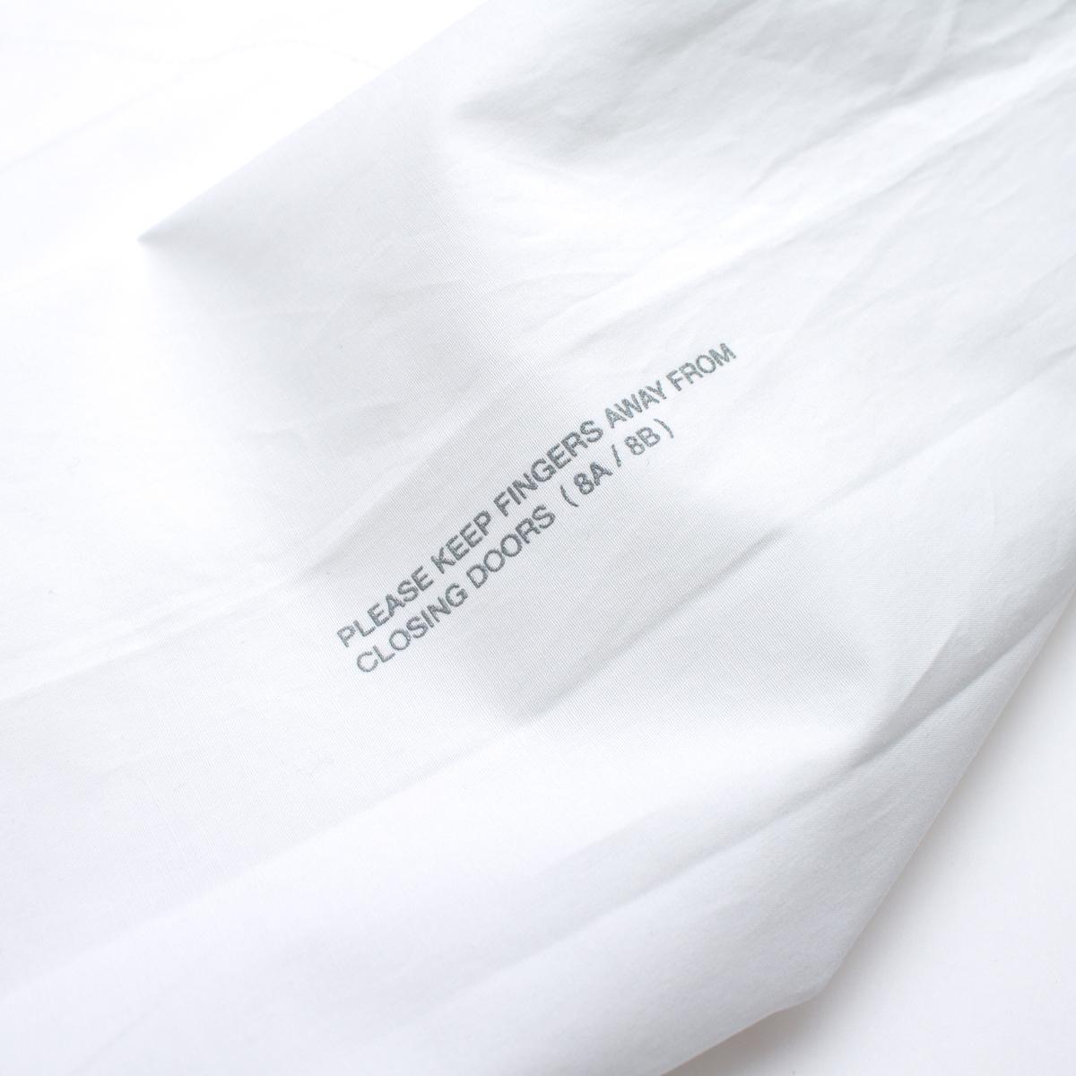 【BURNER×THE STRAIT】ポプリンノーカラーリフレクターシャツブルゾン #WHITE