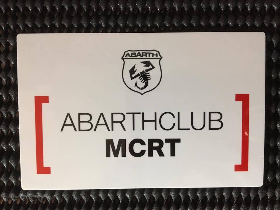 ABARTHCLUB MCRT sticker【会員様限定販売】【税込価格】